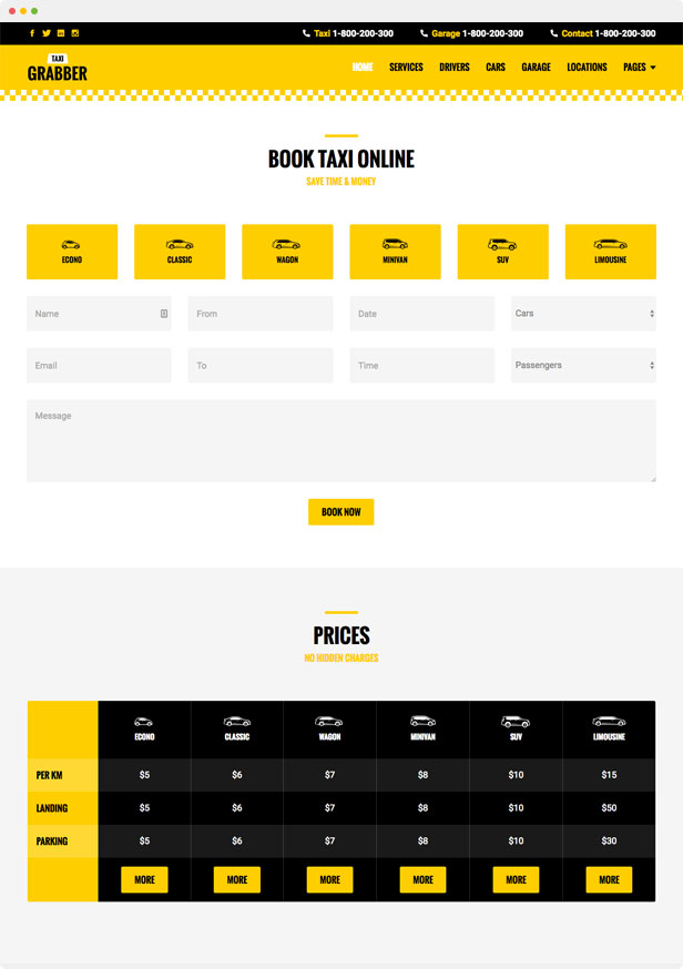 Taxi Grabber HTML Template