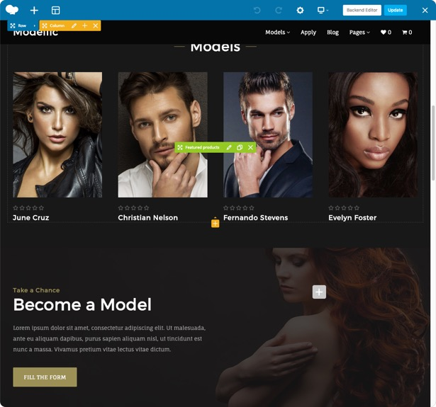 Modellic. Model Agency WordPress Theme